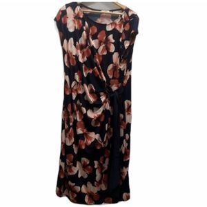 LA CLEF side tie sleeveless dress large floral